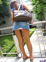 Upskirt Pics: Asian slut slowly strips off her lingerie to get ready for time with her friends