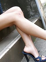 High Heels Legs, Jyuri is a shy teen model with a sexy body
