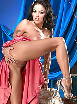High Heels Legs, Lanny Barby shows off her pink in pink!