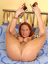 Black High Heels, Party Faye girl in panthose shows out for you!