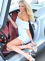 Six Inch Heels, Emily strips from her white dress