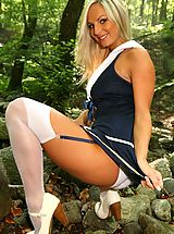 sexy stockings, Sailor Tammy strips out of her uniform to show off her perfect body.