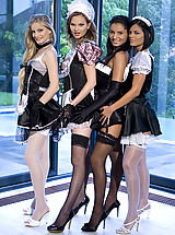 Between Legs, Four sexy maids ready to do their nasty job