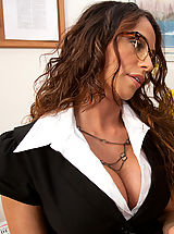Hot latina teacher decides to fuck one of her students on her desk.