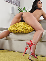 Black Heels, Wet Pussy Shots really close, set no 900 Ria Rodriguez