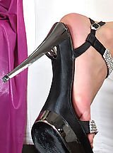 Stiletto High Heels, Wet Pussy Closeup of Viktoria Diamond