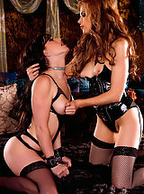 Mistress Candle Boxxx demands young Jennifer White participate in all her cruel, one sided sex games...although it seems both beauties are getting off in their own ways!