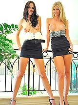 Mini Skirts, Kirsten and Natalie play in public