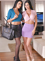 Secretary Sex, Ania Kinski and Jasmine Jae