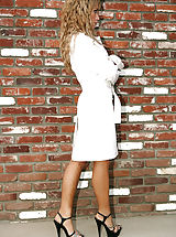 Sexy Heels, Capri Cavalli stops by her neighbors in a trench coat and not much else and fucks her friends husband.