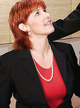 Naughty Office, Sex starved redheaded Anilos Calliste gets rammed hard by the big cock of an experienced stud