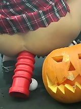 Upskirts, Hot Kink Jo helloween monster dildo vampire upskirt Monster Huge Sex Toys