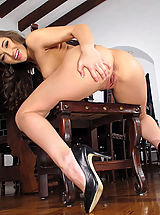 Stiletto Shoes, Wet Pussy Closeup of Dani Daniels
