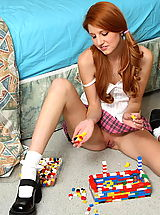 Mini Skirts, rita lovely 01 redhead pigtails