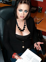 Sexy Secretary, Kelly hired Katie and found out she wasn't qualified, she was qualified to lick her pussy and fuck her husband.