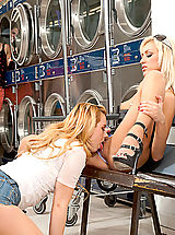 Black High Heels, Four hotties fuck one lucky guy at the laundrymat