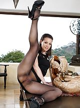 Pussy and Buttocks Worship Photo Set No. 1576 Lexa peel down naked exposes her damp Snatch