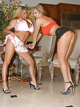 Summer and Kelly Madison suck each others big tits.