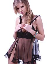 Lingerie Pics: Passionate and amazing blonde beauty wants you come close and take a glance at her beautiful body.