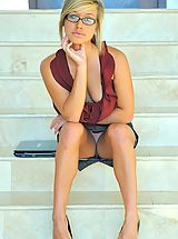 Classy Legs, Kennedy the hot teen secretary