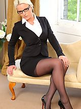 Secretary Fuck, Busty Billie in her office uniform
