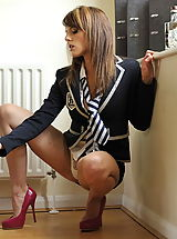 St. Mackenzies Pics: Secretaries in High Heels Headmistress Mackenzie 2 in July 2011