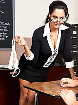 Hot Secretary, Ava Addams shows one of her students what it takes to get an A in her class.