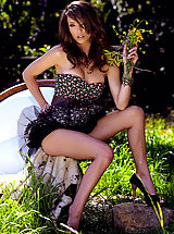 Miniskirt Tease, Malena Morgan is fresh beauty with long limbs and a precocious pout.