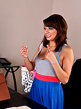 Long Legs, Lexi Bloom is happy to have gotten the referral for her internship by her professor, but in order to keep her internship, Professor Wood refers her to his cock.