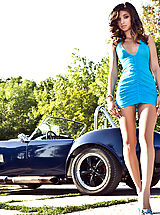 Sexy Secretaries, Beautiful Babe in Ford Shelby Cobra feat. Nika