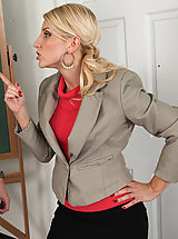 Secretaries, Hot cougar teacher loves to seduce her big cocked students so they fuck her rough.