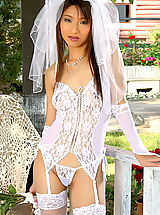 Asian Women annie bae 04 bride garter belt stocking bridal lingerie