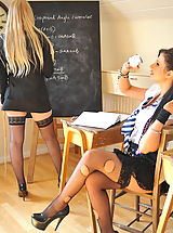 Stiletto Heels, Amy Alexandra and Miss Elise Nude at St. Mackenzies School