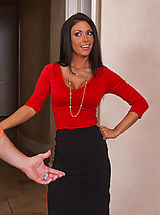 Sexy Jessica Jaymes office assistant is married, but that doesn't stop her from fucking and sucking his big dick.