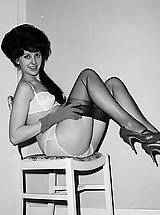 Pink Heels, The Sweetest Vintage Nylon And Underwear Fetish Photos Of 1950-1960 From VintageCuties.com