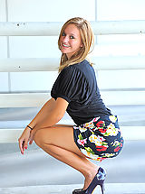 Stilletto Heels, Summer gives upskirt glimpses