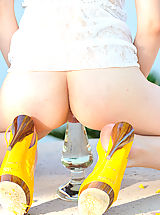 Stiletto Shoes, Mealynn takes on a huge glass FTV toy
