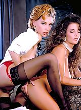 tights stockings, Alexandria and Renee's bodies intertwine and make passionate love to one another in the most delicate shapes.
