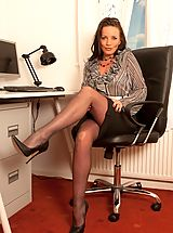 Open Legs, Marlyn- Frustrated Pantyhose Secretatry