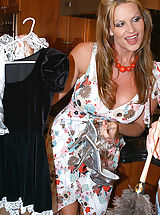 Leah was over qualified to be a maid, she could stuff her asshole with a huge cock and take a load in her ass.