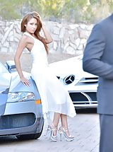 6 inch Heels, Nude Lilly classic dress
