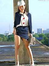 Upskirt Pics: Asian Women mandy yun 01 construction secretary labia minora