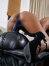 Leather Heels, Hot Clitoris Pics, Photo Set No. #1497 Bare-skinned Sexy Hottie Demi Sutra uncovers her own god given boobs and exposes her innie pussy